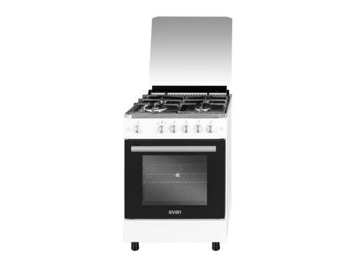 SVK6603GTB - Cocina gas de 4 fuegos blanca de Svan