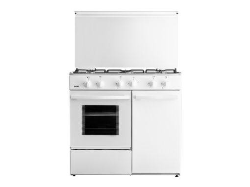 SVK9551GBB - Cocina de 5 fuegos blanca con gas butano de Svan