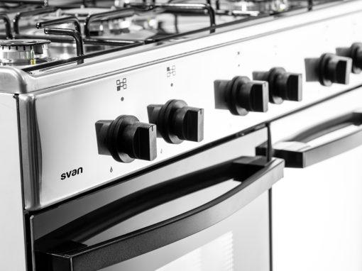SVK9551GBI - Cocina de 5 fuegos inox con gas butano de Svan