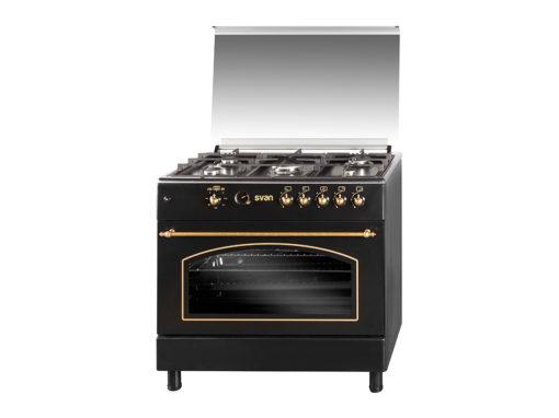 SVK9561FN - Cocina gas 90 cm rústica negra de Svan