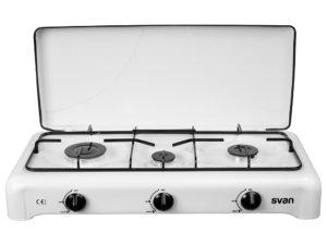 SVHS300 - Hornilla Butano de 3 quemadores de Svan