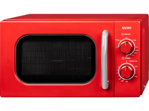 Microondas retro rojo 20L Svan