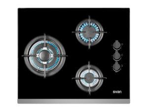 SVEC3BF - Placa cristal gas 3 fuegos de Svan